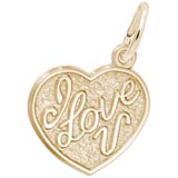 10K Gold I Love You Heart Charm by Rembrandt Charms