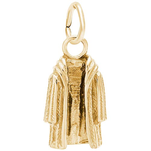 14K Gold Fur Coat Charm by Rembrandt Charms