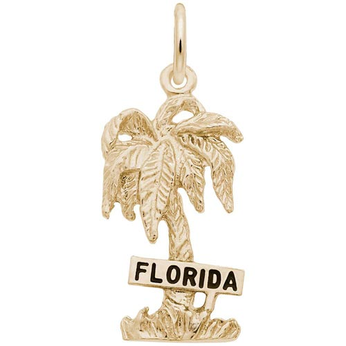 14K Gold Florida Palm Tree Charm by Rembrandt Charms