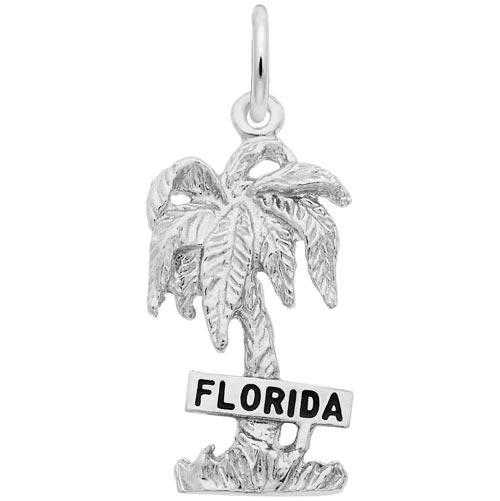 STERLING SILVER FLORIDA PALM TREE CHARM//PENDANT