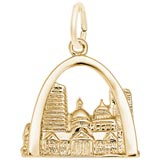 10K Gold St. Louis, MO. Skyline Charm by Rembrandt Charms