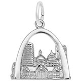 Sterling Silver St. Louis, MO. Skyline Charm by Rembrandt Charms