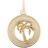 Gold Plated Hawaii Palm Tree Ring Charm by Rembrandt Charms