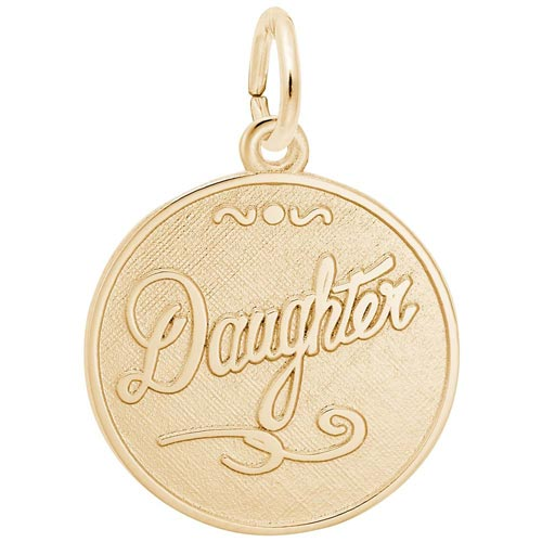 14K Gold Daughter Charm by Rembrandt Charms