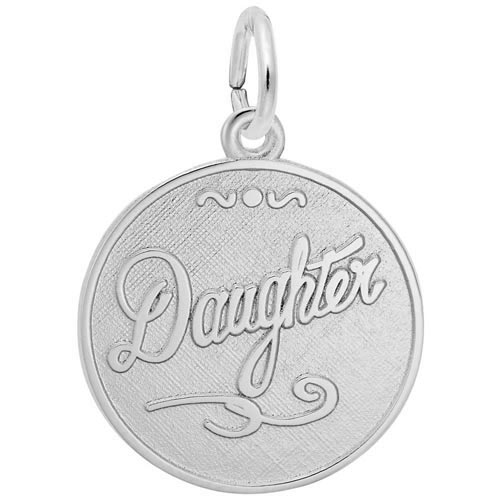 Sterling Silver Daughter Charm by Rembrandt Charms