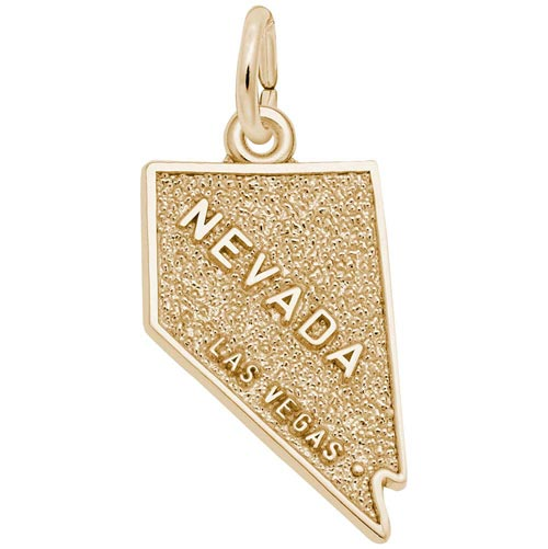 Gold Plated Las Vegas Nevada Charm by Rembrandt Charms