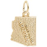 Gold Plated Grand Canyon Arizona Charm by Rembrandt Charms