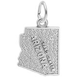 14K White Gold Grand Canyon Arizona Charm by Rembrandt Charms