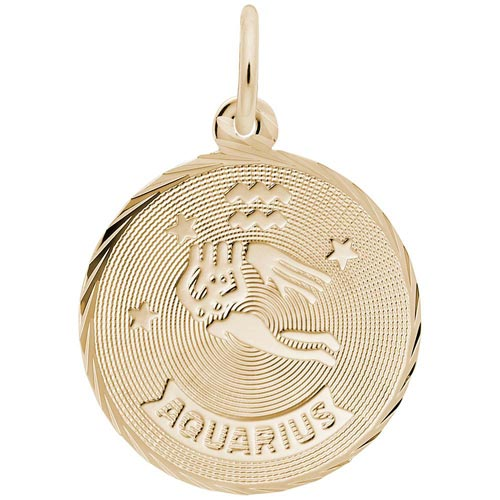 10K Gold Aquarius Constellation Charm by Rembrandt Charms