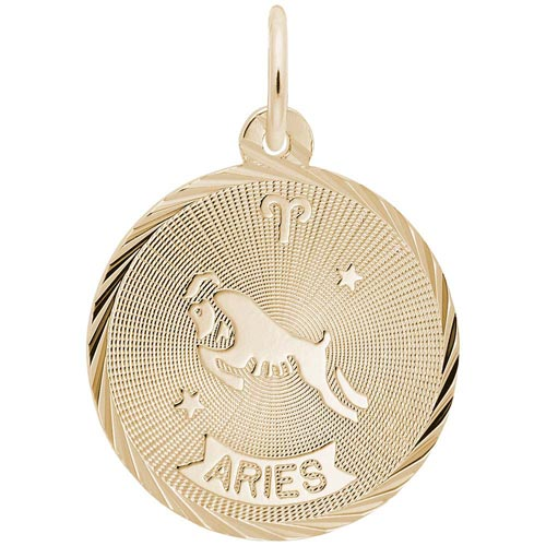 Gold Plated Aries Constellation Charm by Rembrandt Charms