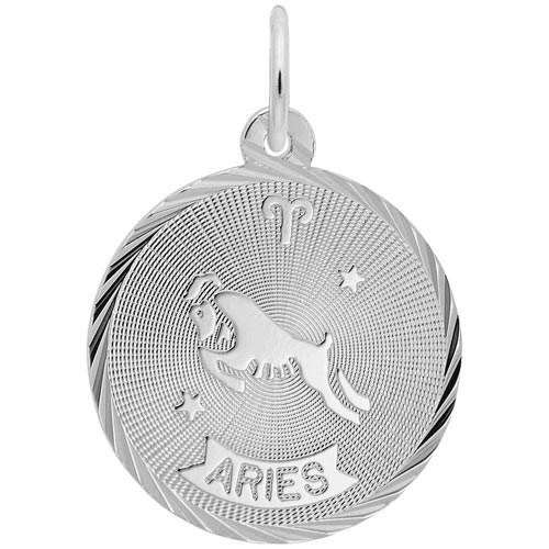 14K White Gold Aries Constellation Charm by Rembrandt Charms