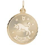 Gold Plated Taurus Constellation Charm by Rembrandt Charms