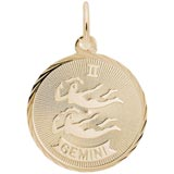 Gold Plated Gemini Constellation Charm by Rembrandt Charms