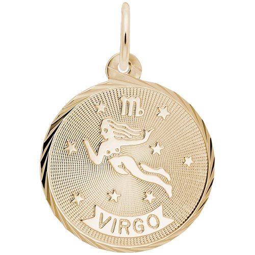 10K Gold Virgo Constellation Charm by Rembrandt Charms