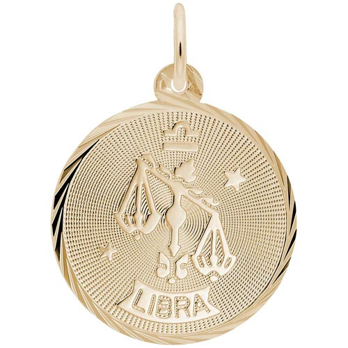 14K Gold Libra Constellation Charm by Rembrandt Charms