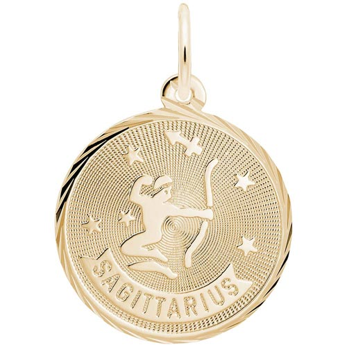 14K Gold Sagittarius Constellation Charm by Rembrandt Charms