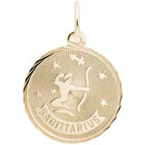 Gold Plated Sagittarius Constellation Charm by Rembrandt Charms