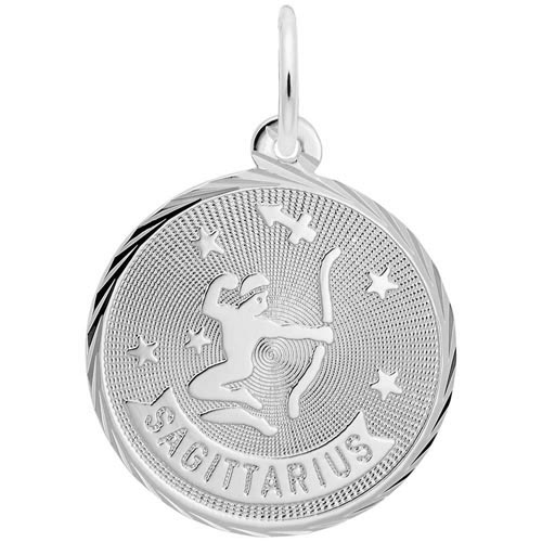 14K White Gold Sagittarius Constellation Charm by Rembrandt Charms
