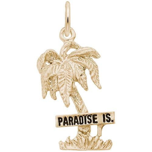 14K Gold Paradise Island Palm Tree Charm by Rembrandt Charms