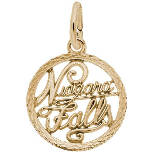 14K Gold Niagara Falls Faceted Charm by Rembrandt Charms