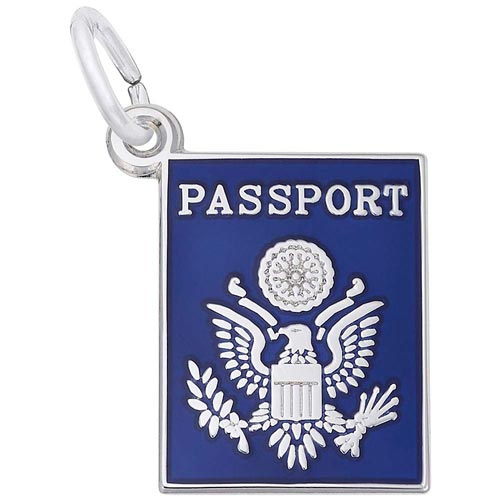Sterling Silver Passport Charm by Rembrandt Charms