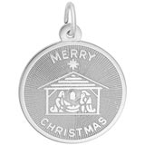 Sterling Silver Merry Christmas Charm by Rembrandt Charms