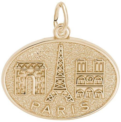 10K Gold Paris France Monuments Charm by Rembrandt Charms