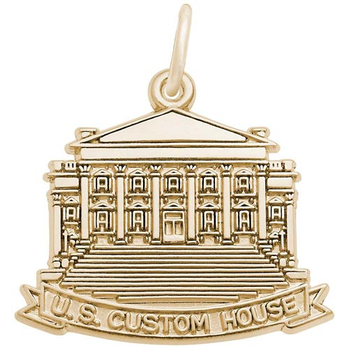 14K Gold US Custom House Charm by Rembrandt Charms