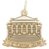 Gold Plated US Custom House Charm by Rembrandt Charms