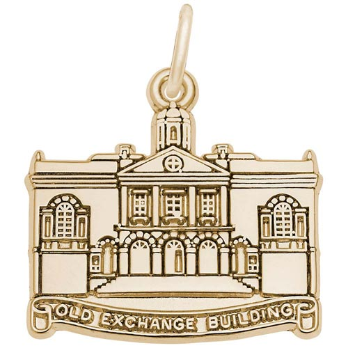 10K Gold Old Exchange Building Charm by Rembrandt Charms