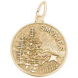 Gold Plated Smokies Mountain Charm by Rembrandt Charms