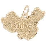 14k Gold China Map Charm by Rembrandt Charms