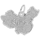 14K White Gold China Map Charm by Rembrandt Charms