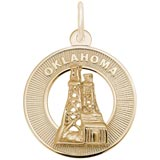 14K Gold Oklahoma Charm by Rembrandt Charms