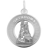 Sterling Silver Oklahoma Charm by Rembrandt Charms