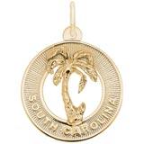 10K Gold South Carolina Charm by Rembrandt Charms