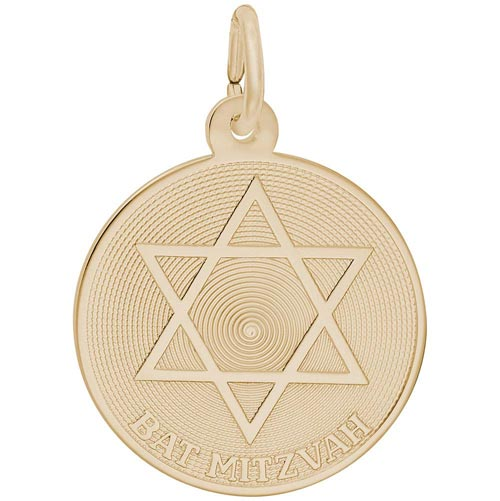 Gold Plated Bat Mitzvah Charm by Rembrandt Charms
