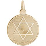 Gold Plated Bar Mitzvah Charm by Rembrandt Charms