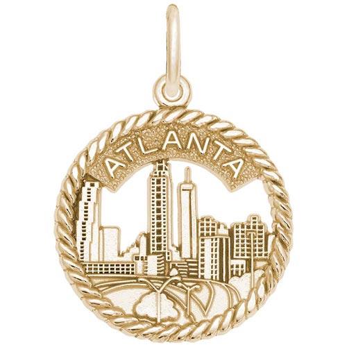 14K Gold Atlanta Sky Line Charm by Rembrandt Charms