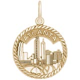 Gold Plated Atlanta Sky Line Charm by Rembrandt Charms
