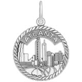 14K White Gold Atlanta Sky Line Charm by Rembrandt Charms
