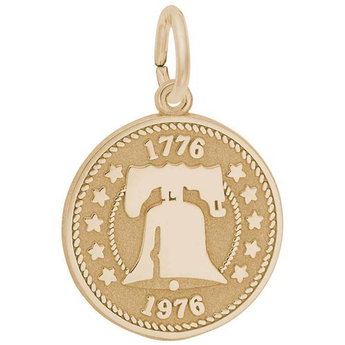 10K Gold Liberty Bell Charm by Rembrandt Charms