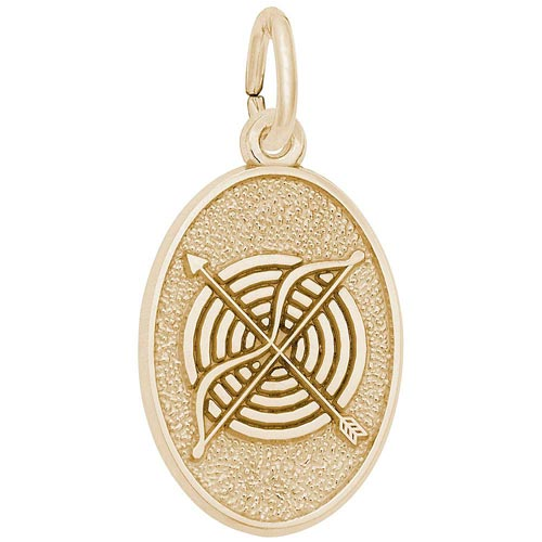14K Gold Archery Charm by Rembrandt Charms
