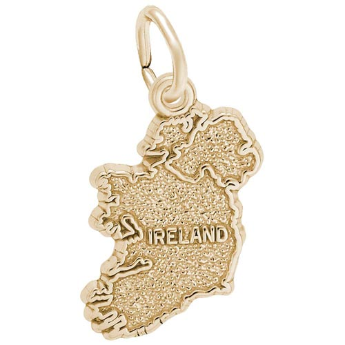 Gold Plated Ireland Charm by Rembrandt Charms