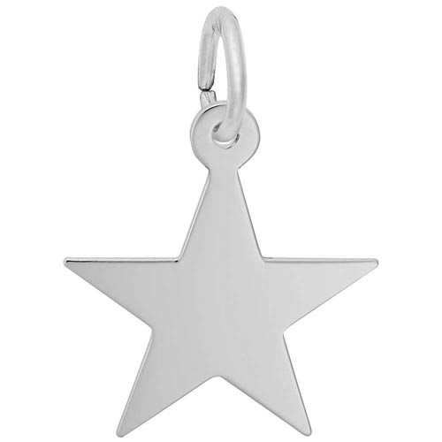 14K White Gold Classic Star Charm by Rembrandt Charms