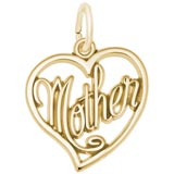 14K Gold Mother's Open Heart Charm by Rembrandt Charms
