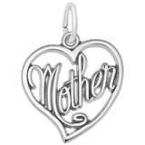Sterling Silver Mother's Open Heart Charm by Rembrandt Charms