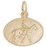Gold Plated Polo Charm by Rembrandt Charms