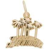 Gold Plated Bermuda Palm Trees Charm by Rembrandt Charms