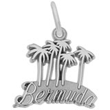 Sterling Silver Bermuda Palm Trees Charm by Rembrandt Charms